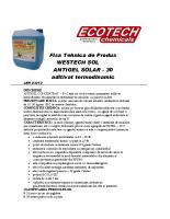 Fisa Tehnica ANTIGEL SOLAR – 30
