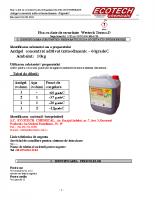 fisa de securitate antigel concentrat -60gradeC