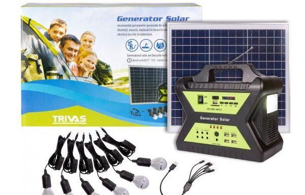 Generator Solar 12V/17Ah cu panou fotovoltaic 30W